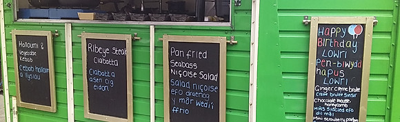 Street food options served from the horse box