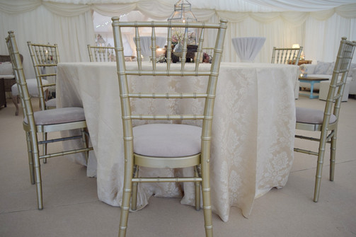 Luxury marquee dining
