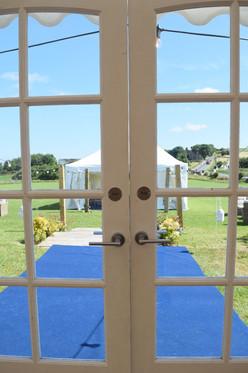 Marquee doors