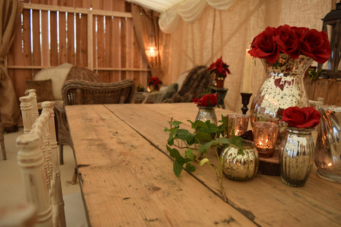 Barn Marquee dining