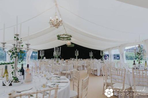 Classic wedding marquee