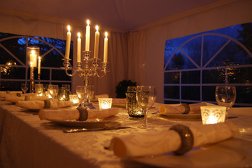 Small marquee dinner party