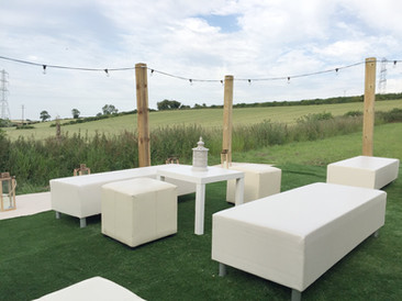 Summer party outdoor seating