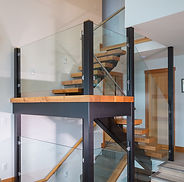 stairs, staircase, wood, glass
