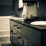 bathroom, cabinet, tile, sink