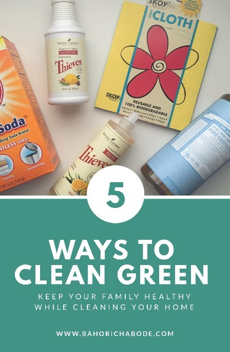 Heather Bahorich - 5 Ways to Clean Green: Skoy Products, Arm & Hammer, Thieves, Dr. Bronner's