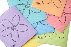 Different colored Skoy cloths