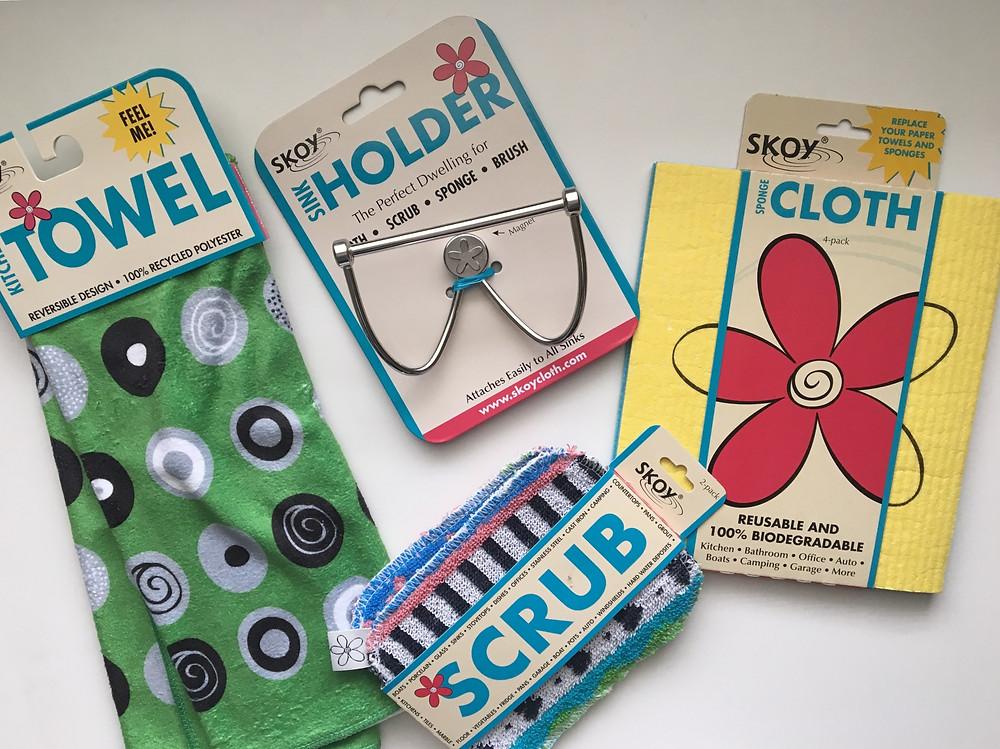 Heather Bahorich's Recommended Products: Skoy Scrub, Skoy Holder, SKOY Cloth, Skoy Towel and Skoy Scrub