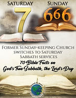 Sunday Keeping Church Switches to Saturd
