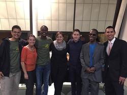 Sandra & Team with Taj, Neville & Mothusi