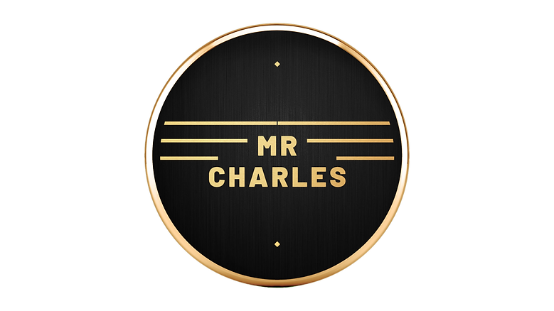 V2 Mr Charles (Brushed Metal & Gold PNG)