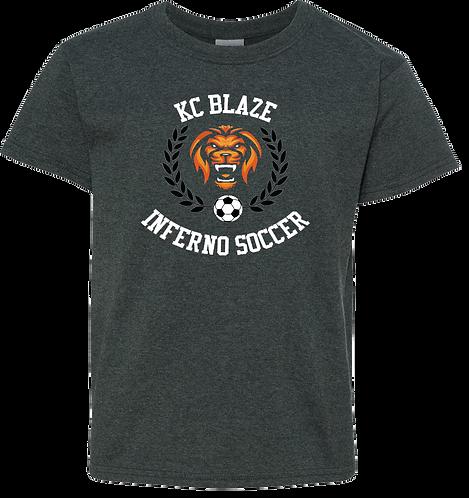 Gildan Cotton Youth T-Shirt (Dark Heather)