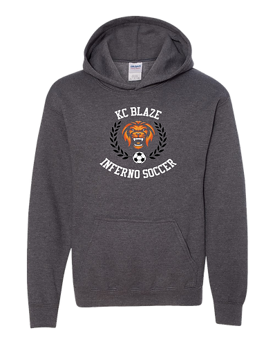 Gildan Youth Heavy Blend Hoodie (Dark Heather)