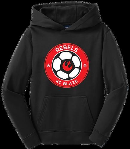 Youth Sport-Tek 100% Polyester Hoodie