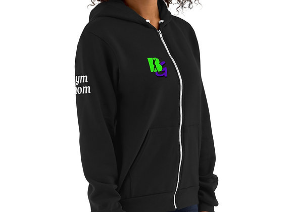 """Gym Mom"" BG Adult zip-up sweatshirt"