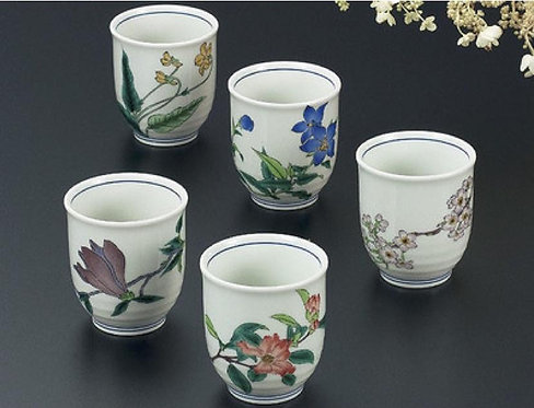 KUTANI WARE TEA CUP SET 5PCS