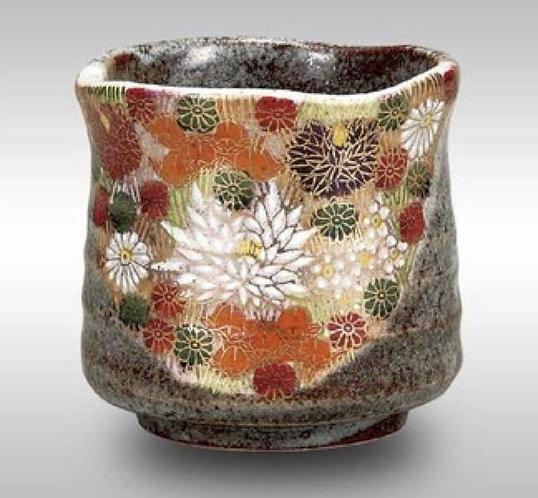 KUTANI WARE TEA CUP - FLOWER
