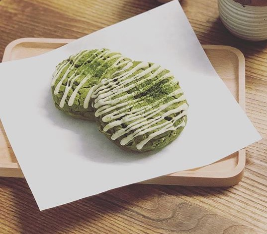 Matcha Hazelnut Cookie