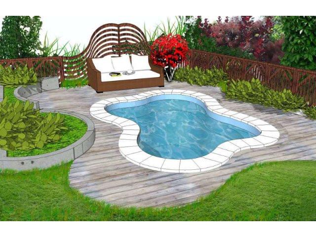 декоративный бассейн в ландшафтном дизайне