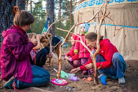 Отдых в лесу с детьми