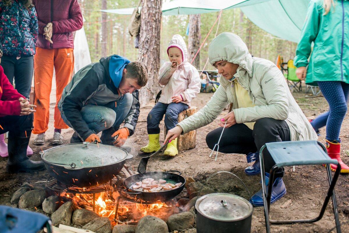 Кухня в лесу