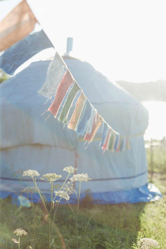 Наша юрта на фестивале йоги в 2016г.