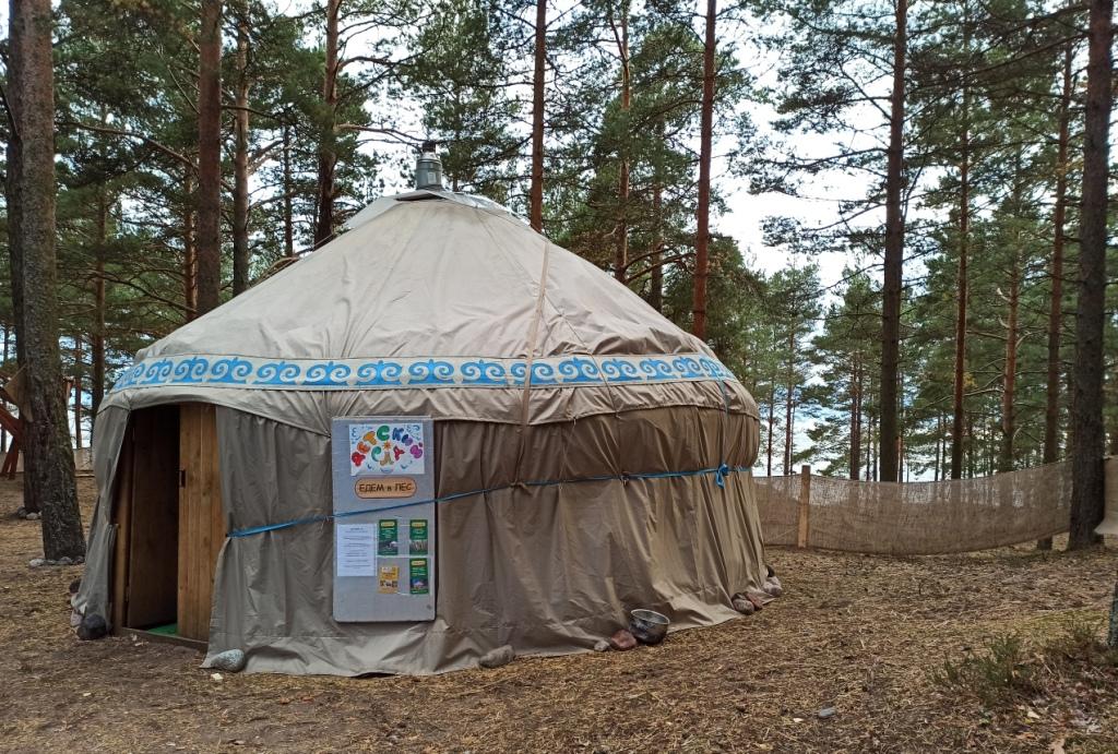 Наша юрта на фестивале
