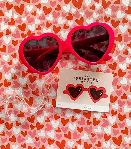 Hot Pink Heart Sunny
