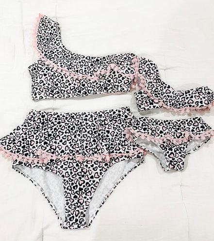 Mama & Mini Leopard Flutter Swimmie