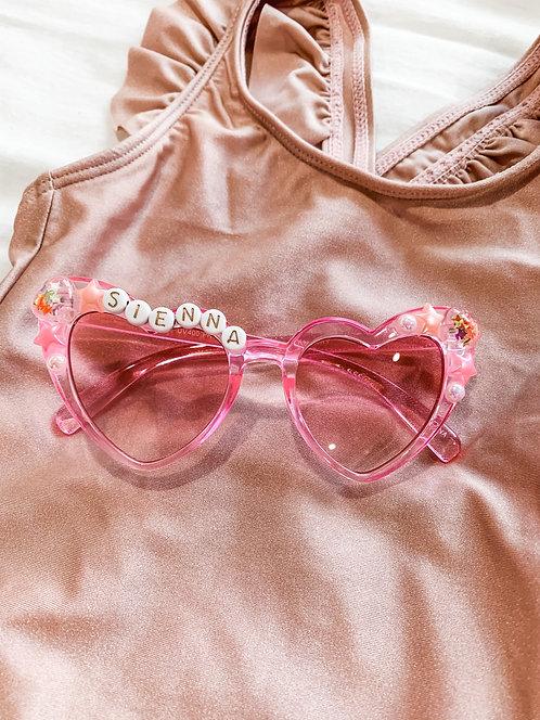 Embellished Pink Cat Eye