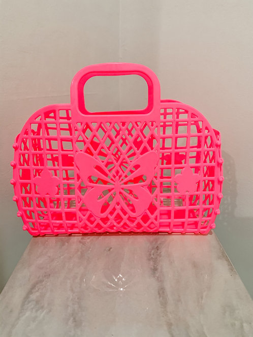 Hot Pink Jelly Tote