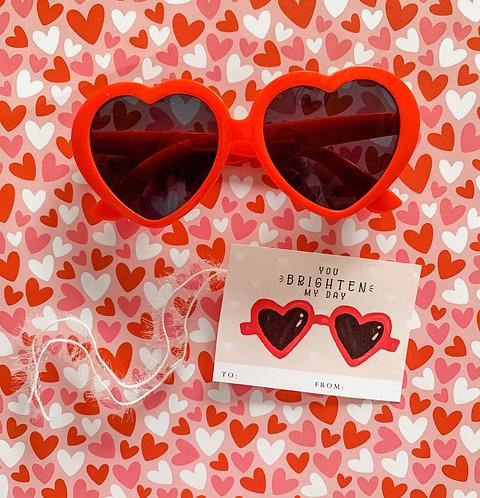 Red heart sunny