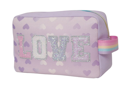 LOVE heart printed lavender pouch