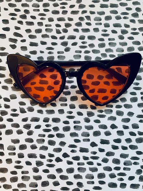 Black Heart Cat Eye with red lense
