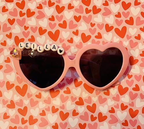 Pink heart sunny