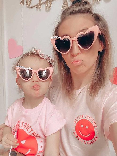 Mama and Mini Cat Eye shade set Pink