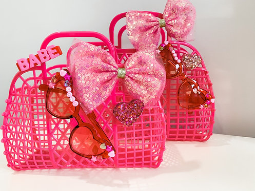 Pink Mama & Mini Jelly Tote