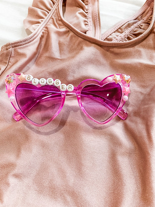 Infant or Childs purple cat eye