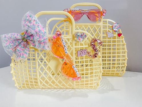 Yellow Mama and Mini Jelly Totes