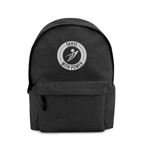 SWP Round Logo Embroidered Backpack