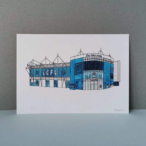 Leicester City Football Stadium Print - Filbert Way Ground