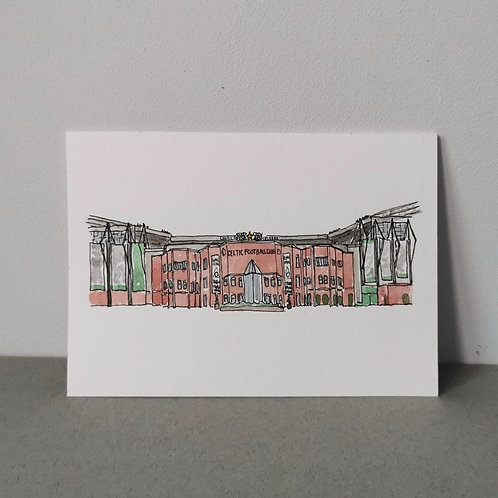 Original Mini Sports Stadium Illustration