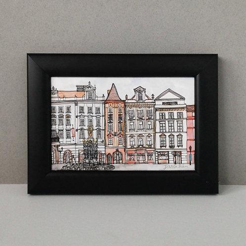 Framed Print of Prague - Malé Náměstí Old Town