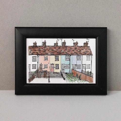 Framed Print of Rainbow Houses