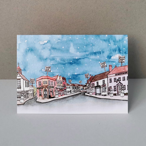 Christmas In Dunmow Christmas Card - Single or Set of 5