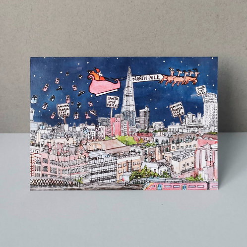 Christmas In London Christmas Card - Single or Set of 5