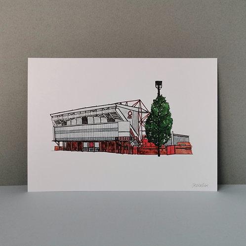 Nottingham Forest Football Stadium Print - The City Ground