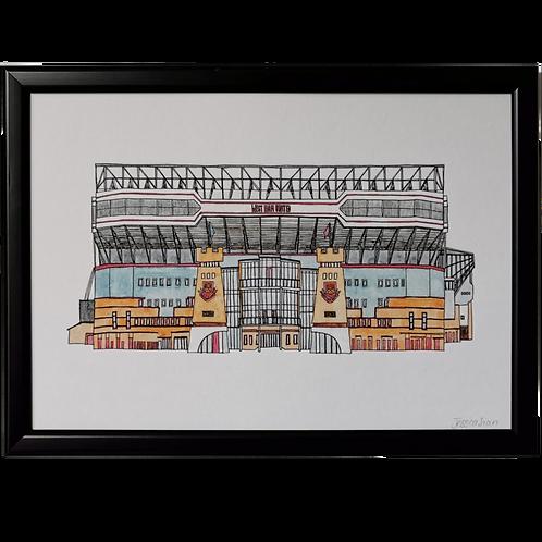 West Ham Football Ground Print - Upton Park Stadium