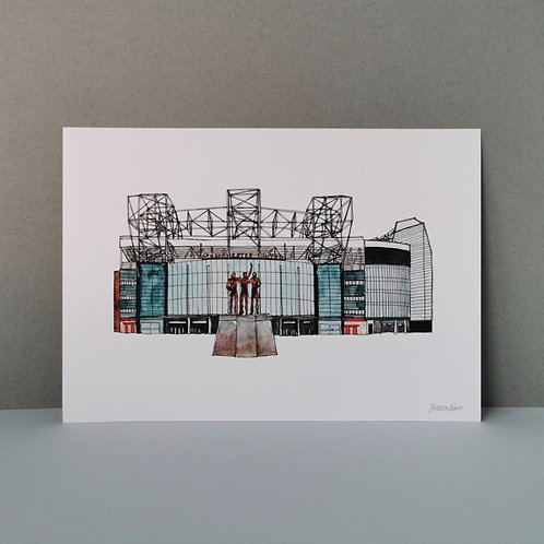 Manchester United Football Stadium Print
