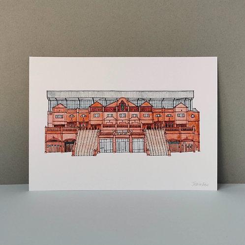 Aston Villa Football Ground Print - Villa Park Stadium